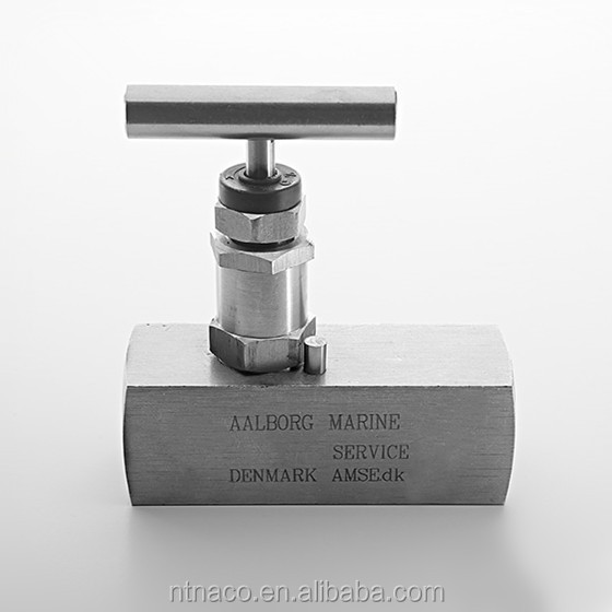 Hamlet style 1/2 NPT female thread rising manifold plug needle valve