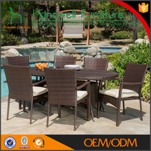 Big lots outdoor artificial rattan furniture of 6 seater dining table