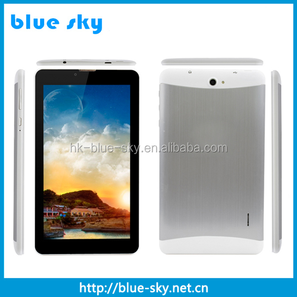 OEM 7 inch 3G 4G phone tablet pc MTK 6572 dual core 1GB RAM 8GB storage China wholesale factory