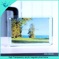 High Transparency acrylic magnetic photo frame