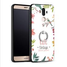 Case for Huawei Mate 9 with Ring Tropical Pattern 2 in 1 Phone Case with Ring Holder