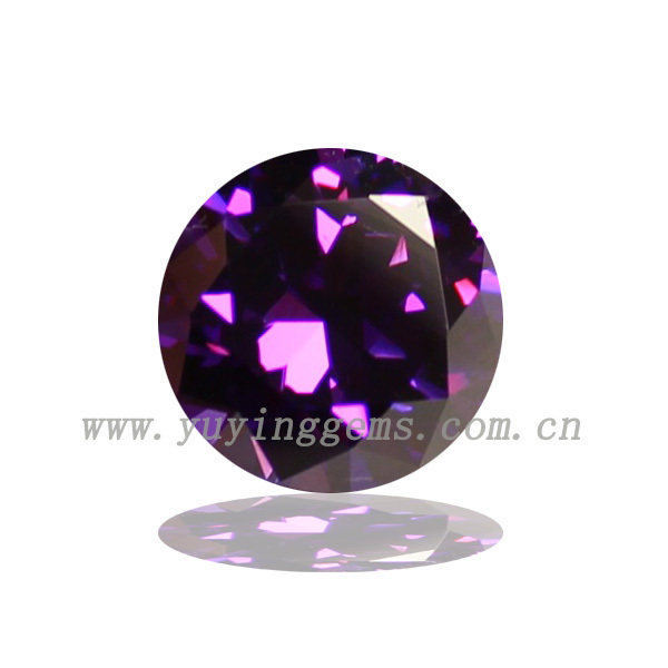 Cheap price synthetic round small size amethyst loose cz stone sale of natural stalactite stone