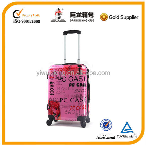 2014 pc suitcase /trolley hard case/ luggage/ trolley bag for girls