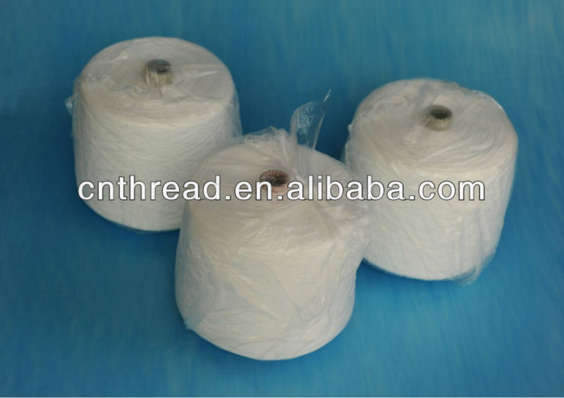short stable fiber 100% spun polyester yarn for sewing thread