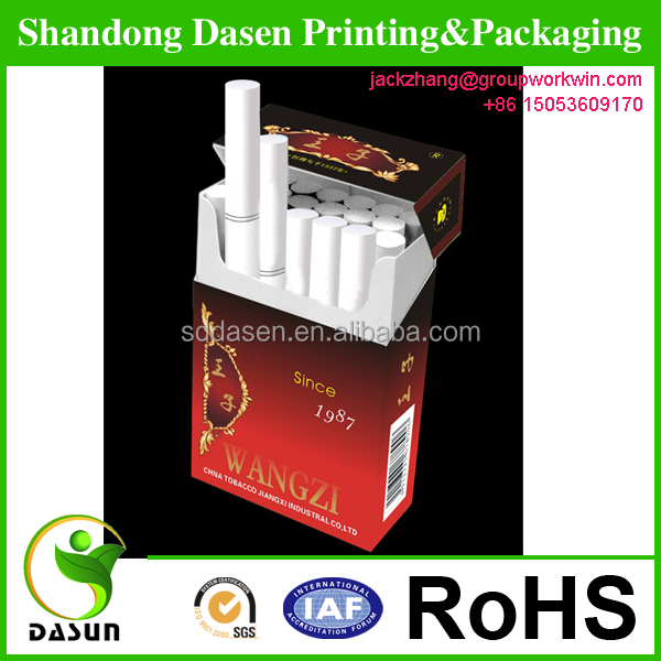 High quality oem blank cigarette packs paper box