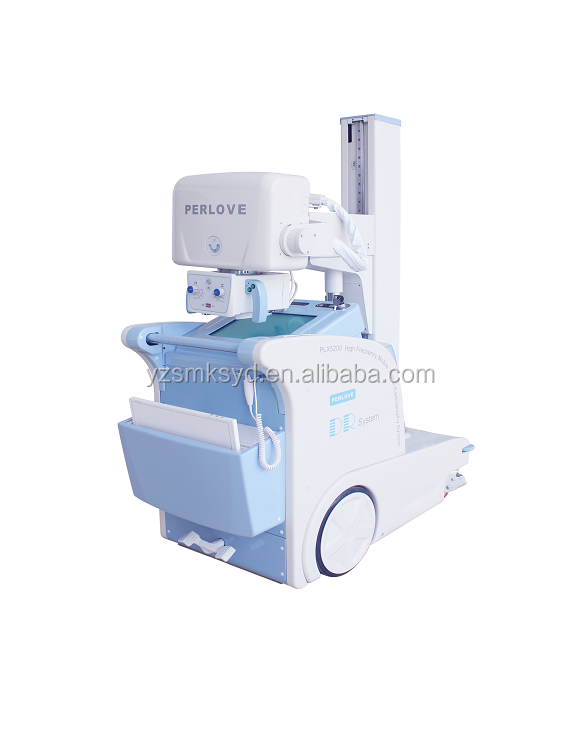 High Frequency Mobile Digital Radiography System mobile dr xray x-ray machine 25kw 60kHz CE apporved