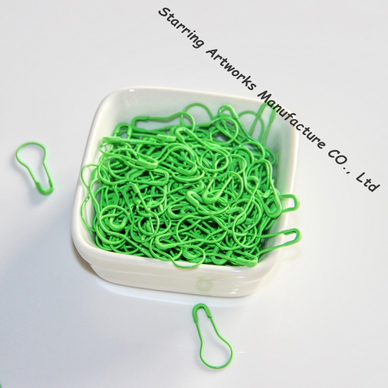 1000pcs 22mm Green Pear-shaped Metal Safety Pins For Hanging Tags