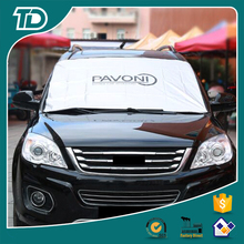 Car sunshade against snow, ice, and frost polyester winter car windshield snow cover