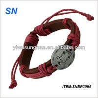 2014 Fashion new desgin pretty elegant yiwu woven bracelet