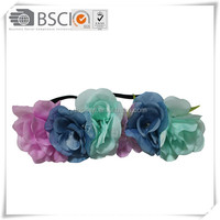 hot sell shabby flower headband,silk headbands china