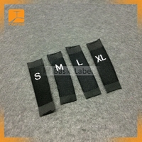 printed fabric clothing size labels