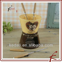 Colorful Ceramic Chocolate Fondue Set