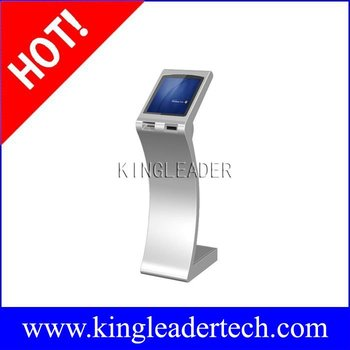 Self-service LCD kiosk with SAW touchscreen