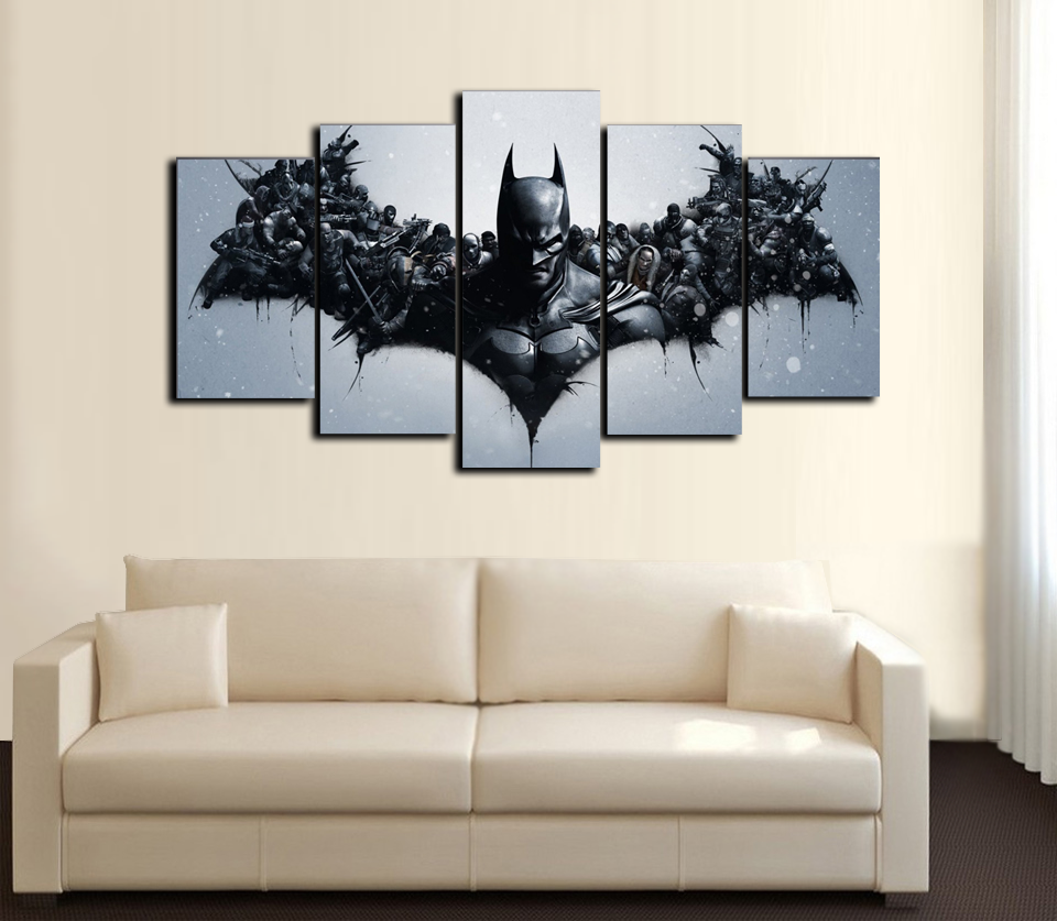 Decorative Pictures Printed Batman Movie Poster Group Painting Children's Room Decor Print Poster Picture Canvas Prints