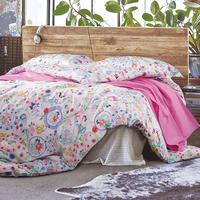 Cheap price flower design queen size bed sheet for children