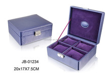 Luxury watch packing box, watch packing box wrap with PU leather, fashion gift packing box for watches