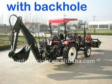 mini farm tractor 35hp 4wd,tracteur,traktor,cabin,fan,heater,front loader,blade,fork attachements.