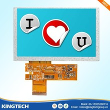 5.0 inch auto lcd screens high definition and high brightness 450 nits
