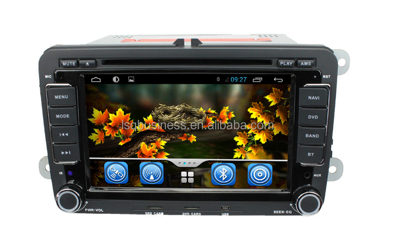 Android vw passat b7 car gps navigation with SWC GPS +Radio +RDS BT+SD +USB CD/DVD IPOD Aux-in