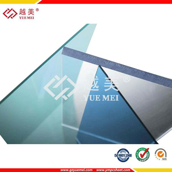 Yuemei polycarbonate solid sheets price in 100% original material of Bayer and GE with high quality thick polycarbonate sheet