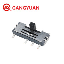 6 Pin SMD Miniature Slide Switch 2P3T Type China Manufacturer