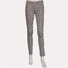 Sexy flower leopard style casual stretchy skinny jeans