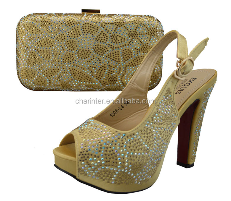 New Design Coming Italian Shoes And Bag Set Whole African Bags