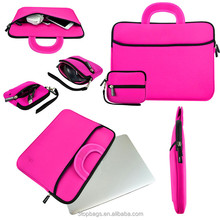 Wholesale neoprene laptop bag notebook sleeve with mouse case