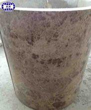 Nature Crystal Coffee Marble Column Design