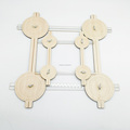 Wooden adjustment different shape quadrangle teaching tools