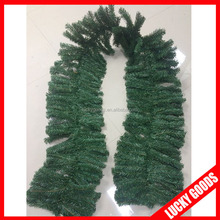 popular selling 3m 380T big decorative PVC green garland wholesale