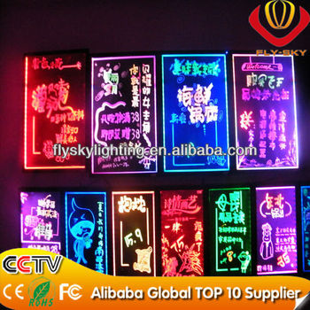 alibaba wholesaleneon led writing board factory direct high quality and full colour