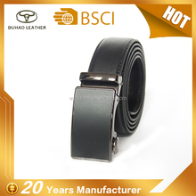 Simple Style Automatic Buckles Split Leather Belt For Man 3.5cm Wide