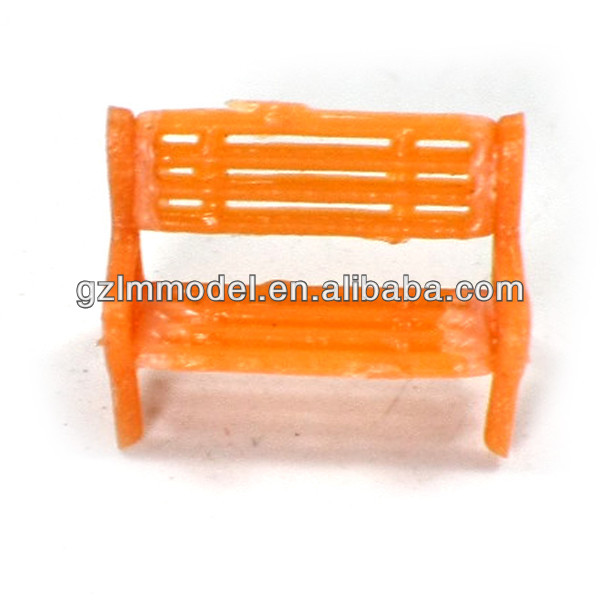 plastic scale bench chair,scale park chair for train layout model Y150-01 1/150