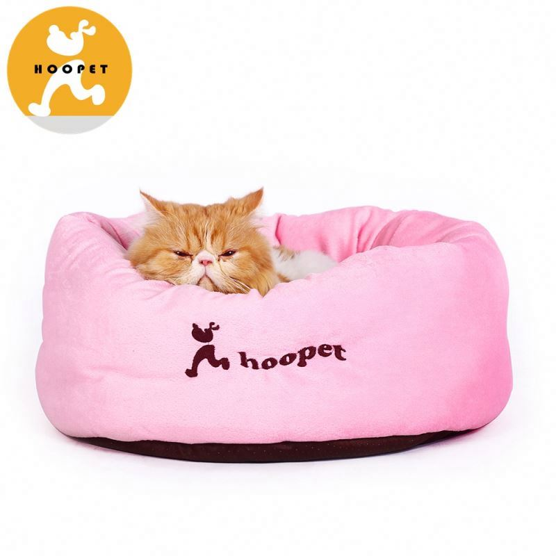 New design comfortable pink round dog bed cushion