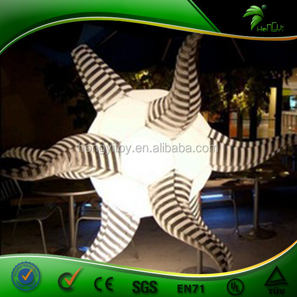 Top selling white stage LED decorative inflatable air star balloon