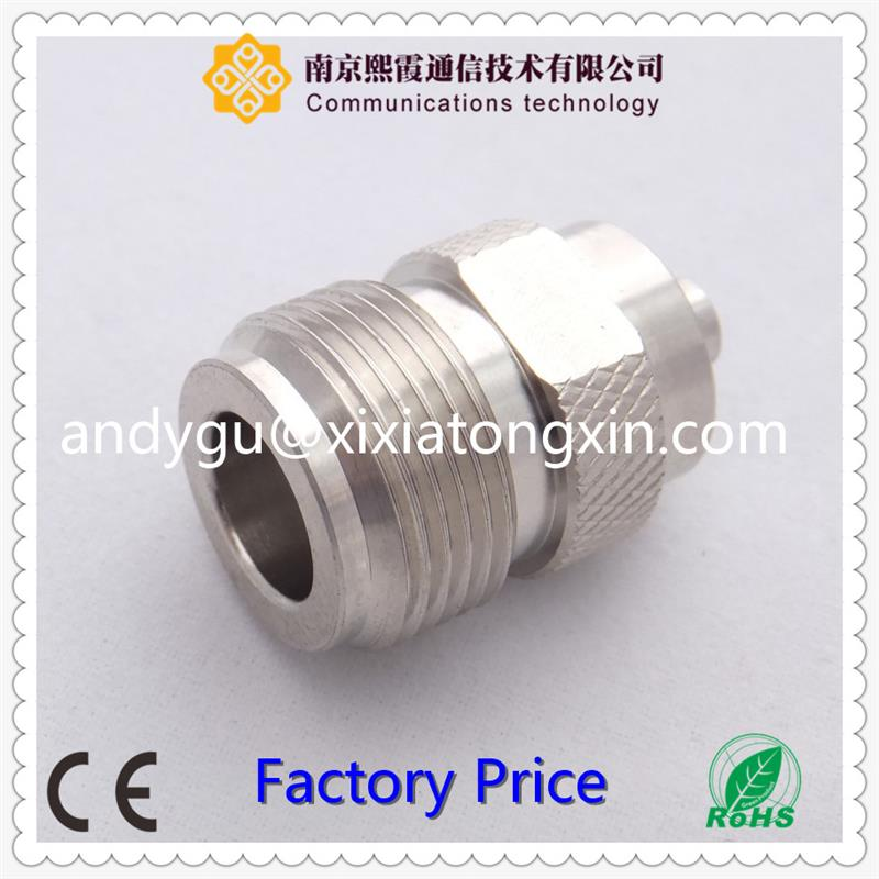 Male N to female F adapter/connector