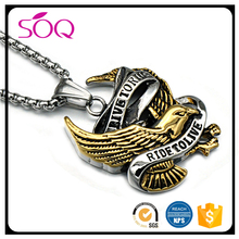 European jewelry personalized vintage pendant stainless steel punk rock dubai jewellery necklace