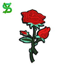 New China Clothing Accessories custom 3D embroidery patches floral