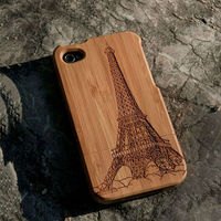 New Style Bamboo Traditional sculpture Wood Hard Back Wooden Case Cover phone Case for iphone