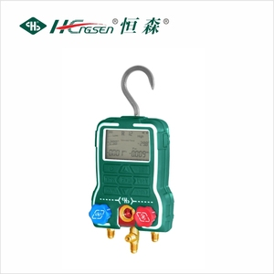 Digital manifold gauge set/Digital pressure gauge/Aluminium Manifold Gauge Set with Charging Hose