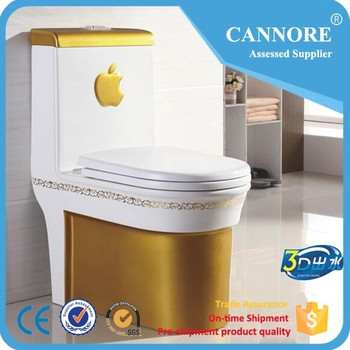 B1063 Siphon One Piece Gold Toilet