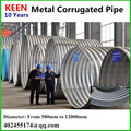 round galvanized corrugated pipe dia 90mm