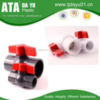 good quality irrigation plastic pvc ball valve with butterfly handle