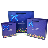 Customized high quality ribbon tie gift bags