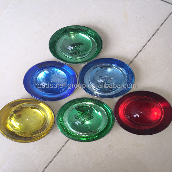 Highway road reflector Tempered glass road stud cate eyes colored studs