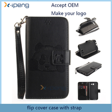 2017 New embossed card slot wallet leather magnet mobile phone cover flip case for sony xperia z l36h