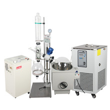 Fast shipping 10L to 50L rotary evaporator system with chiller and vacuum pump for hemp oil extraction