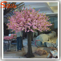 Cheap Artificial indoor cherry blossom tree and plants wedding wishing flower tree