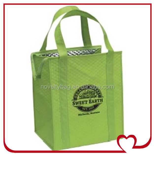 Factory Price Thermal Insulated Non-woven Tote Bags / Insulated Water Bottle Bag
